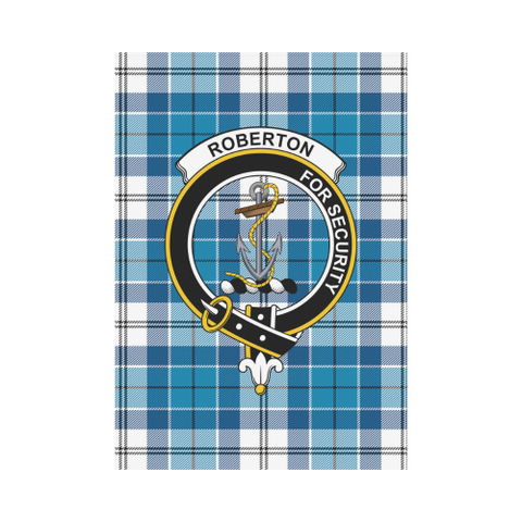 Image of Roberton Clan Badge Tartan Garden Flag