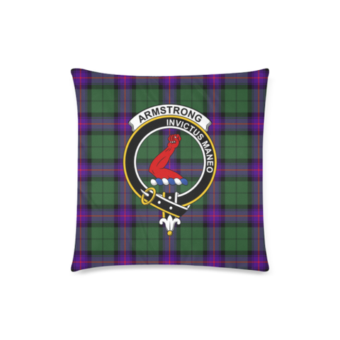 Armstrong Clan Badge Tartan Pillow Cover