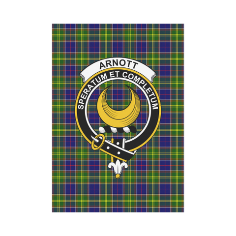 Image of Arnott Clan Badge Tartan Garden Flag