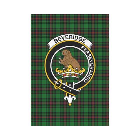 Image of Beveridge Clan Badge Tartan Garden Flag