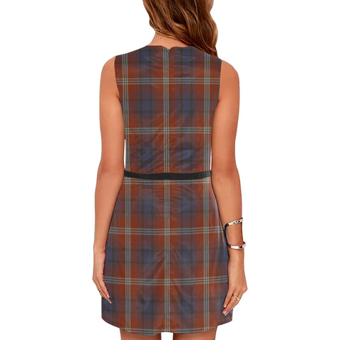 Ainslie Tartan Sleeveless Dress H01