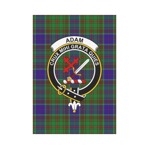 Image of Adam Clan Badge Tartan Garden Flag
