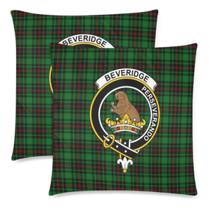 Beveridge  Clan Badge Tartan Pillow Cover