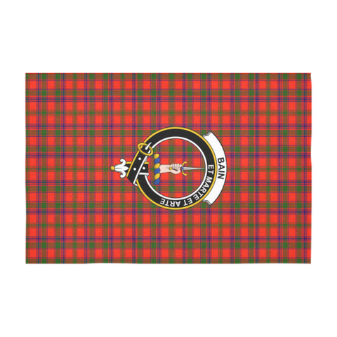 Image of Bain  Clan Badge Tartan TableCloths