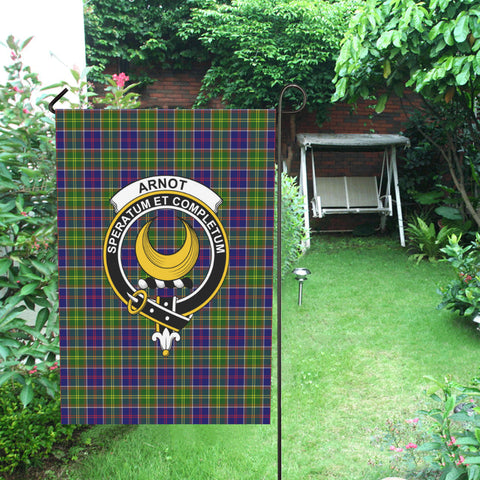 Image of Arnot Clan Badge Tartan Garden Flag H01 Garden Flag 28''x40'' (Without Flagpole)