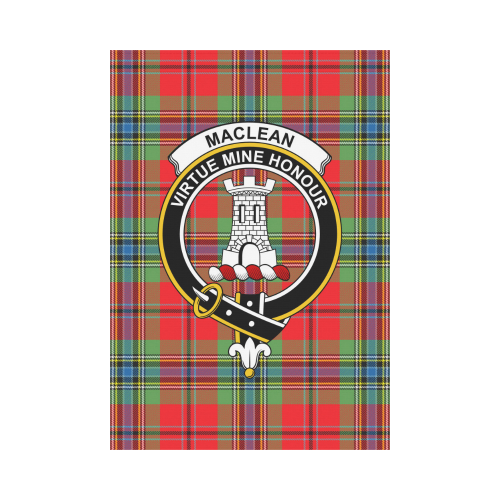 MacLean of Duart  Clan Badge Tartan Garden Flag