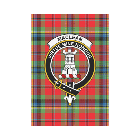 Image of MacLean of Duart  Clan Badge Tartan Garden Flag