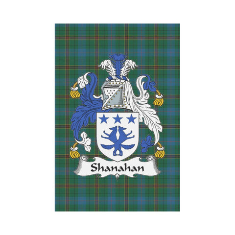 Image of Shanahan Clan Badge Tartan Garden Flag