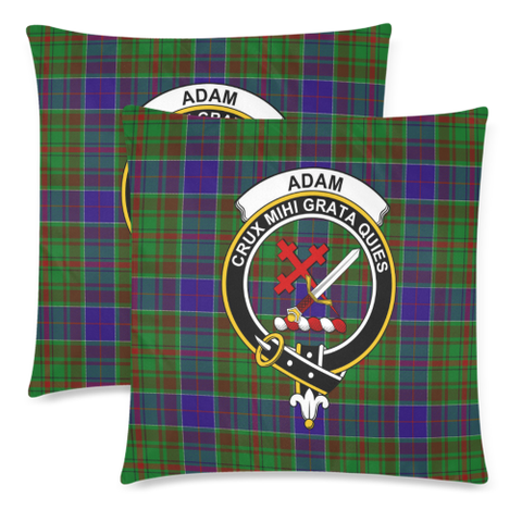 Adam  Clan Badge Tartan Pillow Cover