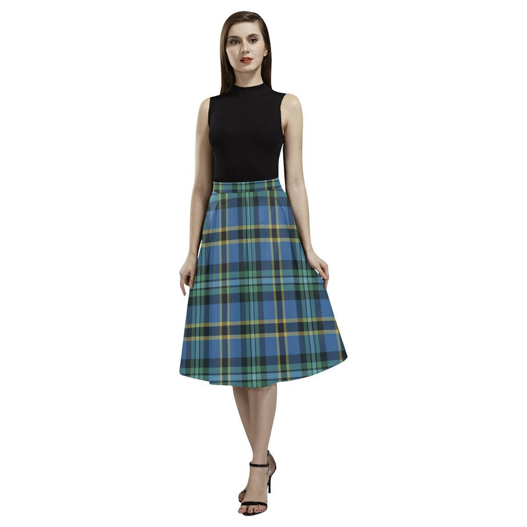Weir Ancient Tartan Aoede Crepe Skirt