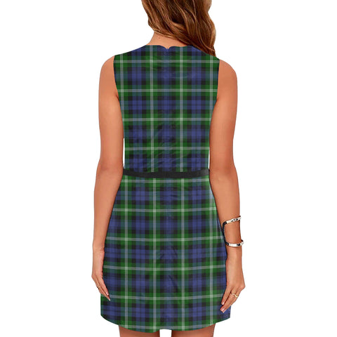 Image of Baillie Modern Tartan Sleeveless Dress H01