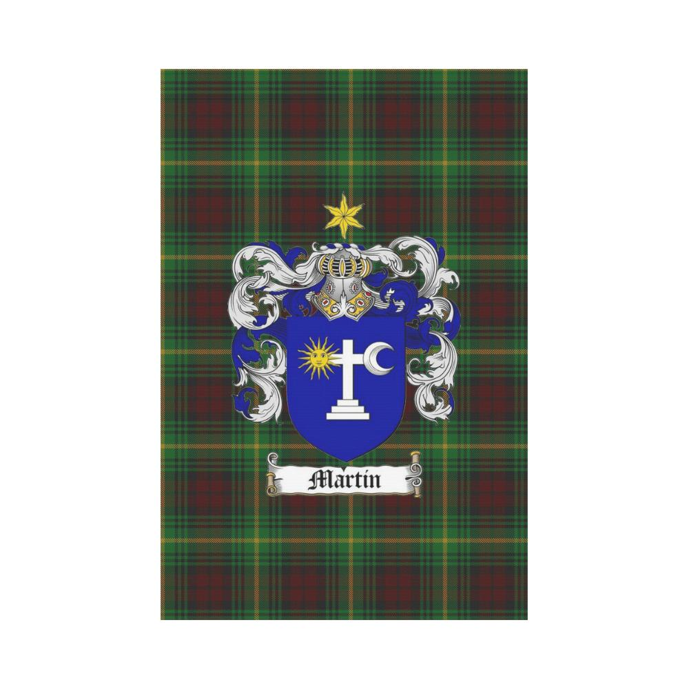 Martin Clan Badge Tartan Garden Flag