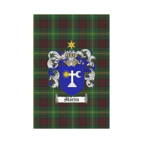 Image of Martin Clan Badge Tartan Garden Flag