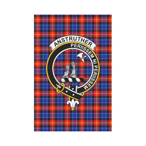 Anstruther Clan Badge Tartan Garden Flag