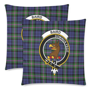 Baird Clan Badge Tartan Pillow Cover