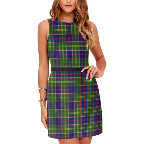 Image of Arnott Tartan Sleeveless Dress H01