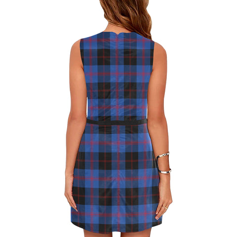 Angus Modern Tartan Sleeveless Dress H01