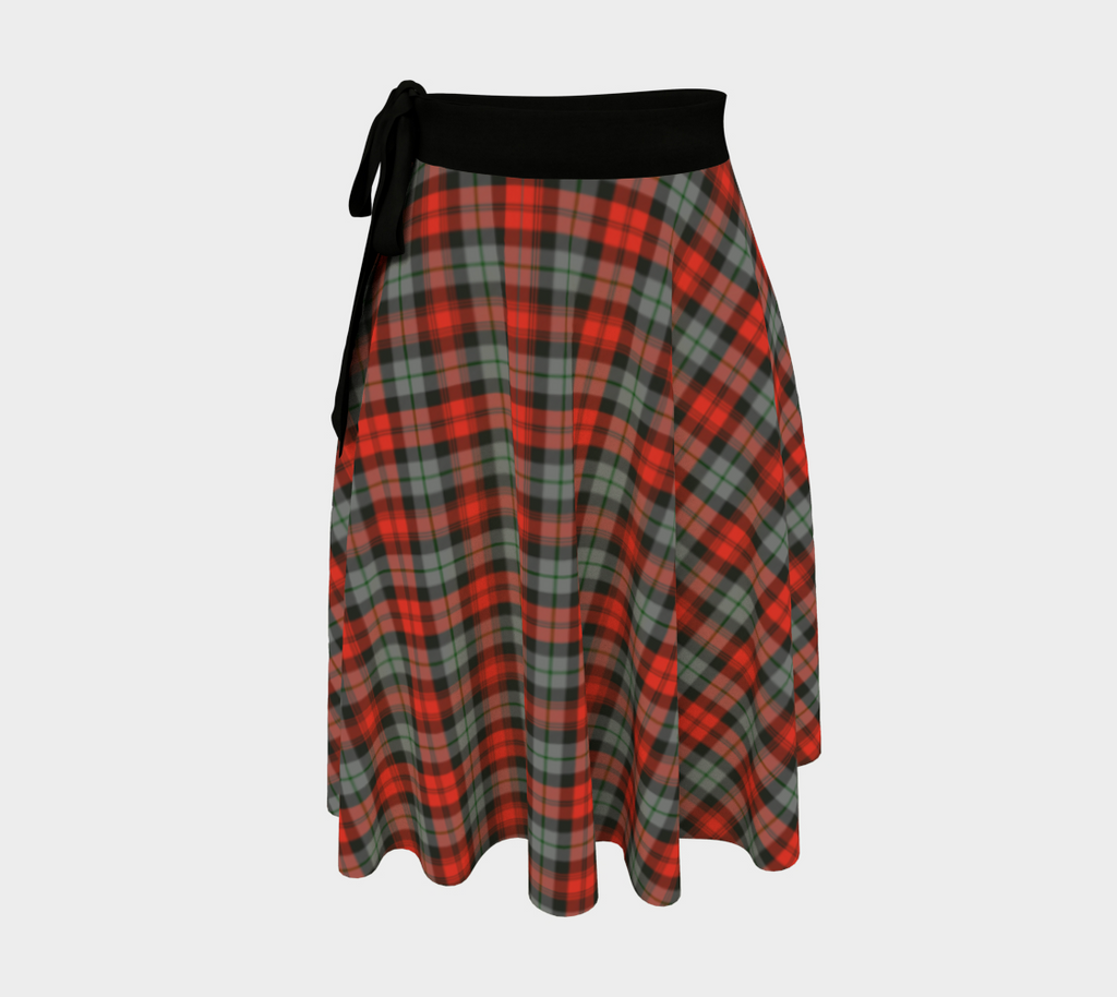 MacLachlan Weathered Tartan Wrap Skirt