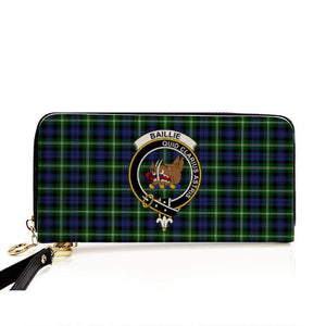 Baillie Clan Badge Tartan Zipper Wallet