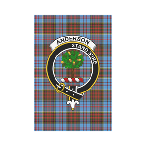 Anderson Clan Badge Tartan Garden Flag