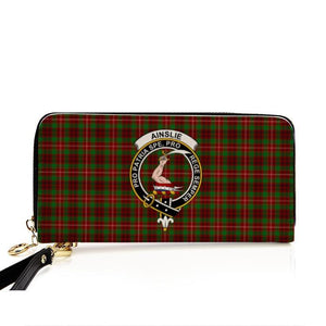 Ainslie Clan Badge Tartan Zipper Wallet