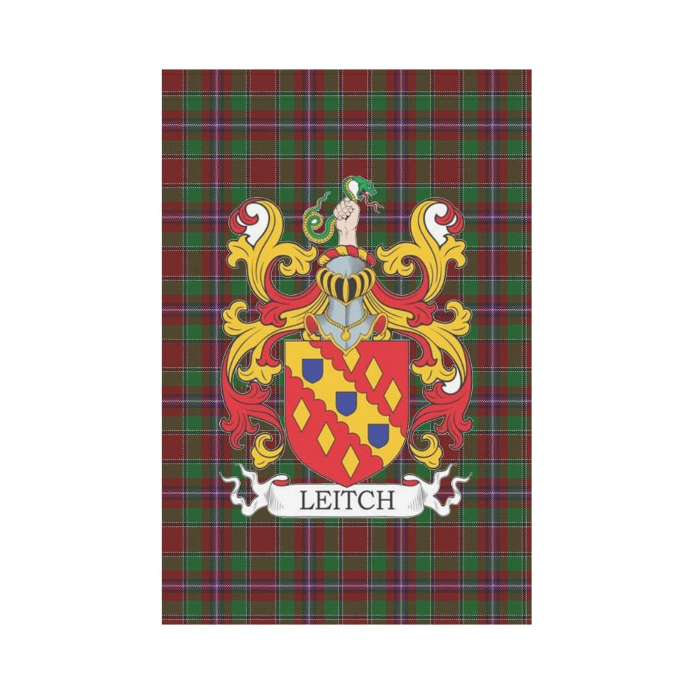 Leitch Clan Badge Tartan Garden Flag