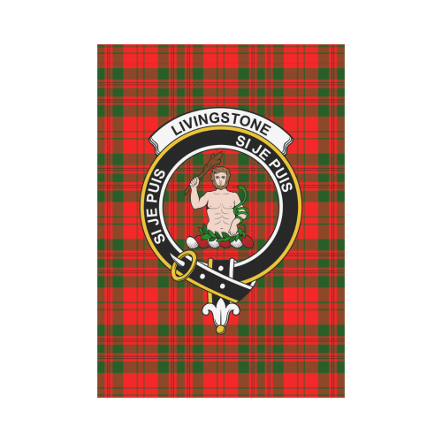 Livingstone  Clan Badge Tartan Garden Flag