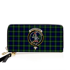 Bannerman Clan Badge Tartan Zipper Wallet