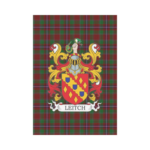Image of Leitch Clan Badge Tartan Garden Flag