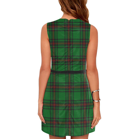 Image of Anstruther Tartan Sleeveless Dress H01