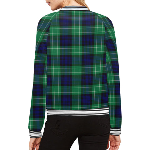 Image of Abercrombie Tartan All Over Print Bomber Jacket H01