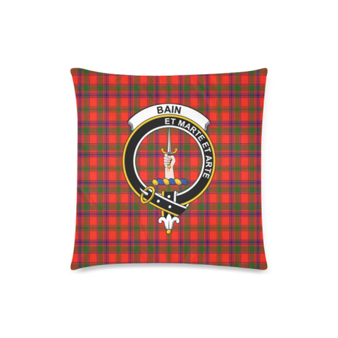 Image of Bain  Clan Badge Tartan Pillow Cover