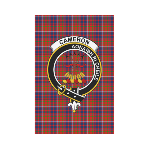 Image of Cameron of Lochiel Clan Badge Tartan Garden Flag