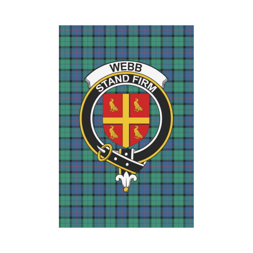 Webb Clan Badge Tartan Garden Flag