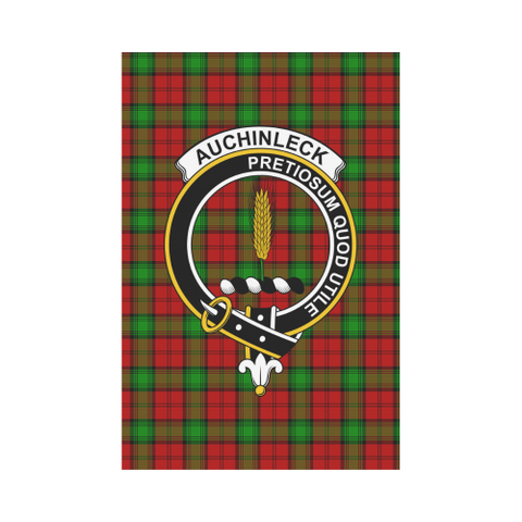 Auchinleck Clan Badge Tartan Garden Flag