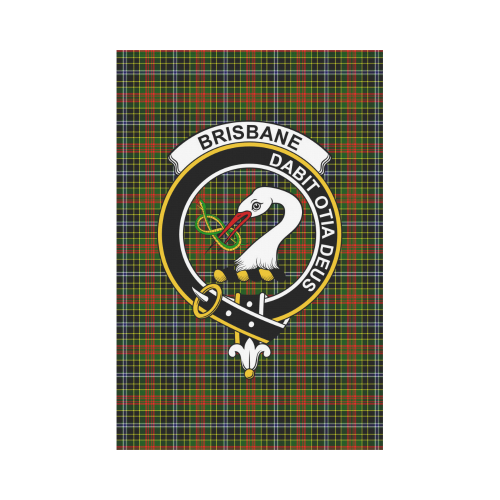 Brisbane Clan Badge Tartan Garden Flag