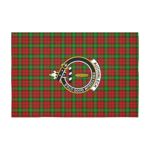 Image of Auchinleck  Clan Badge Tartan TableCloths