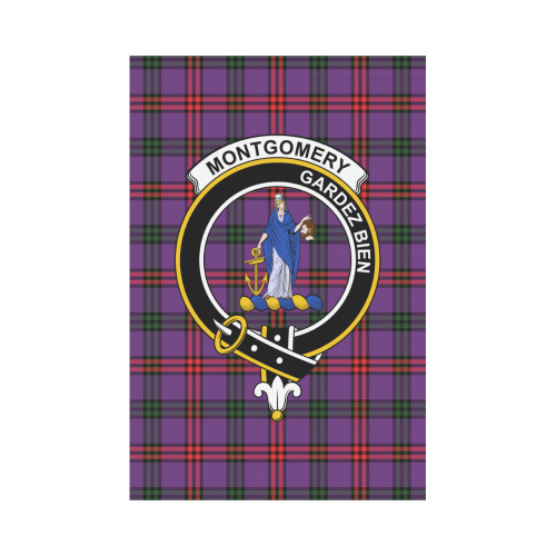 Montgomery  Clan Badge Tartan Garden Flag