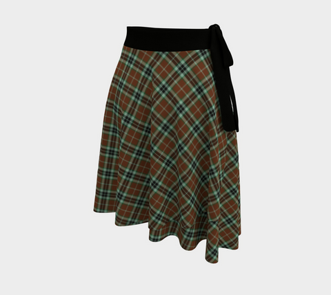 Image of Thomson Hunting Modern Tartan Wrap Skirt