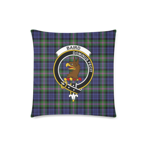 Image of Baird Clan Badge Tartan Pillow Cover