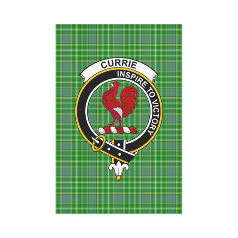 Image of Currie Clan Badge Tartan Garden Flag