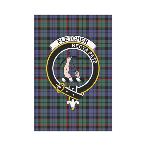 Image of Fletcher Clan Badge Tartan Garden Flag