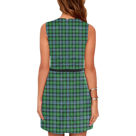Image of Arbuthnott Tartan Sleeveless Dress H01
