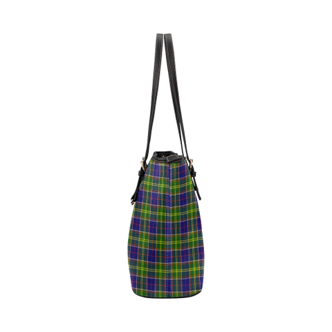 Arnott Clan Badge Tartan Leather Tote Bag