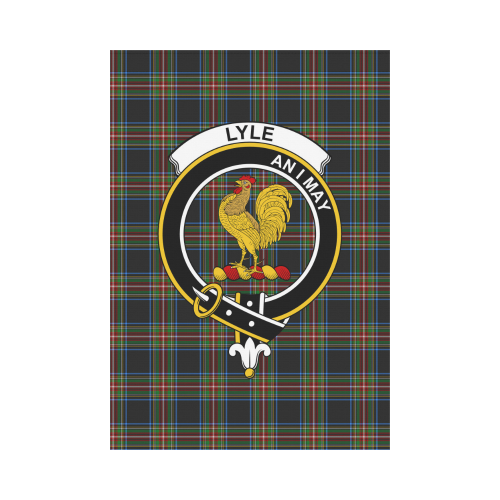 Lyle Clan Badge Tartan Garden Flag