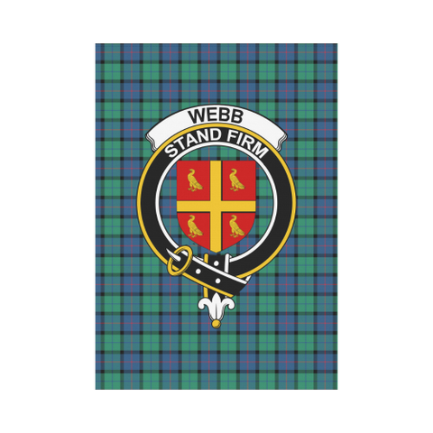 Image of Webb Clan Badge Tartan Garden Flag