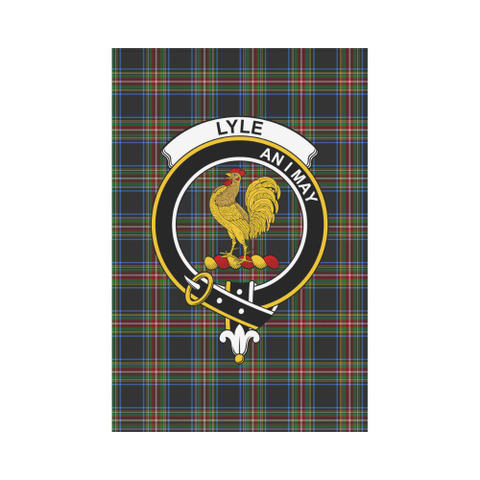 Image of Lyle Clan Badge Tartan Garden Flag