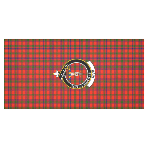 Bain  Clan Badge Tartan TableCloths