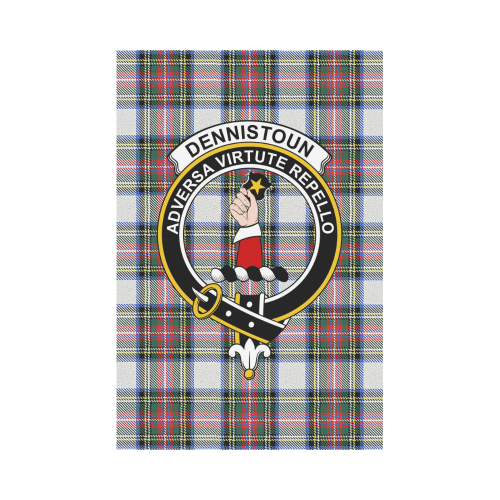 Dennistoun Clan Badge Tartan Garden Flag