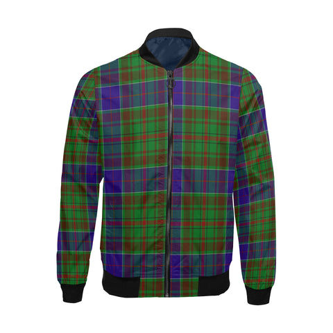 adam Tartan Bomber Jacket for Men H01